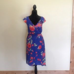 Skies are Blue Floral faux wrap dress. Sz XS. NWT